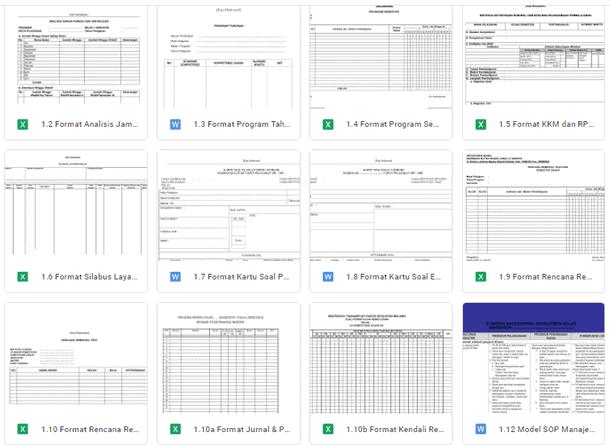 Contoh Format Administrasi Kegiatan Belajar Mengajar (KBM)