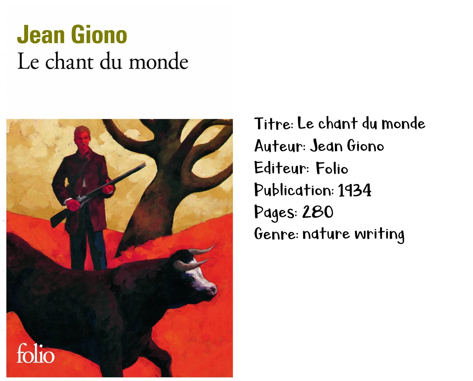 Le chant du monde de Jean Giono