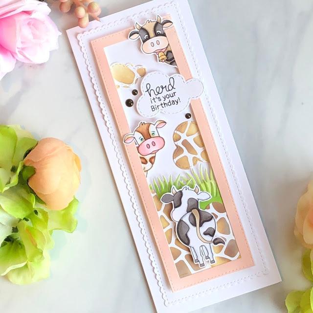 Herd It's Your Birhday Card by October Guest Designer Allison Arbour | Moo Stamp Set by Newton's Nook Designs #newtonsnook #handmade
