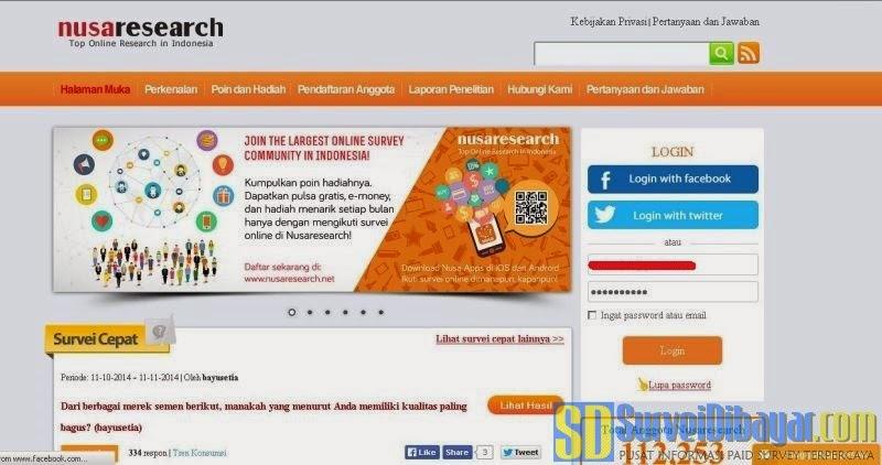 Nusaresearch situs paid survey terkemuka | SurveiDibayar.com