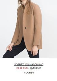 Sobretudo masculino beige em saldos na Zara (29,99 em vez de 49,95€)