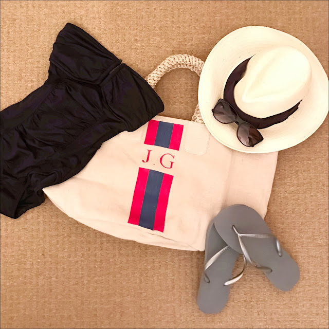 My Midlife fashion, rae feather canvas shopper, hm straw panama, ralph lauren sunglasses, coco bay seafolly DD U tube maillor swimsuit, cocobay havaianas slim flip flops in grey silver