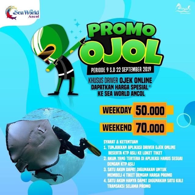 #Ancol - #Promo Harga Khusus Driver Ojek Online ke Sea World Ancol (09 - 22 Sept 2019)