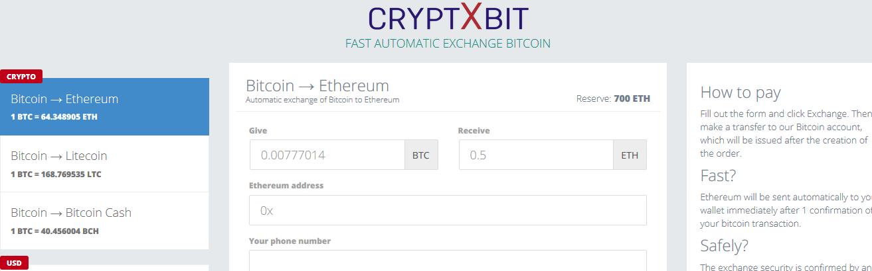 [Лохотрон] cryptxbit.pro – Отзывы? Очередная фальшивая система обмена денег