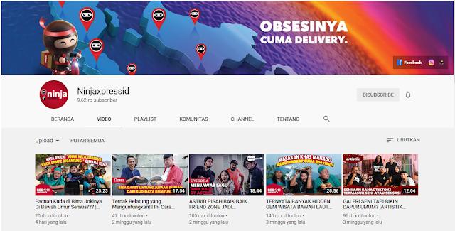 Channel Youtube Ninja Xpress