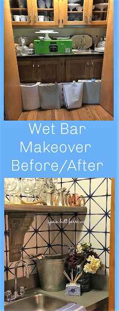 spain hill farm wet bar makeover renovation before after