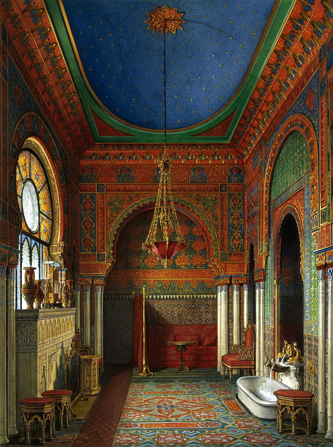 19th Century Drawing Room: The Glory Of Russian Painting: Edward Petrovich Hau