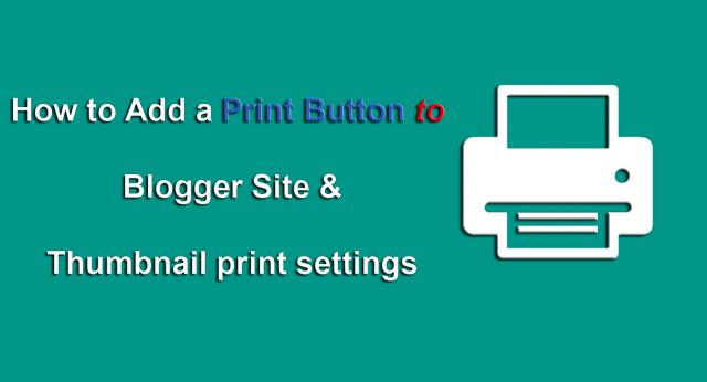 Cara Membuat Tombol Print Di Kanan Atas Posts Blogger