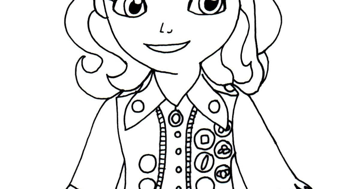 Sofia the first coloring pages buttercups sofia the first for Sophie the first coloring pages