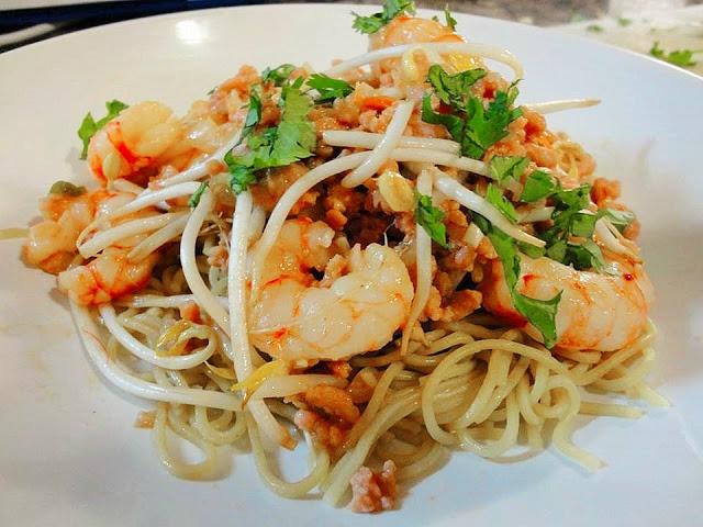 Prawns, Minced Pork, Noodles, Recipe