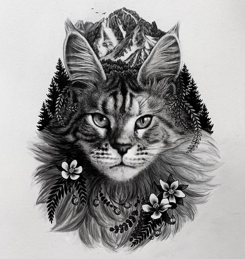 06-Cat-immersed-in-nature-Alyse-Dietel-www-designstack-co