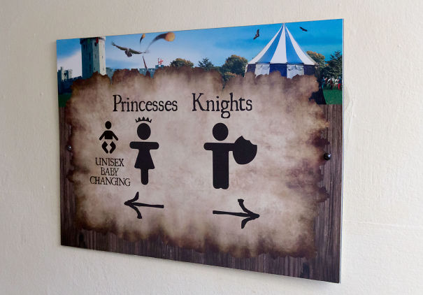 20+ Of The Most Creative Bathroom Signs Ever - Princesses And Knights - Warwick Castle, Uk