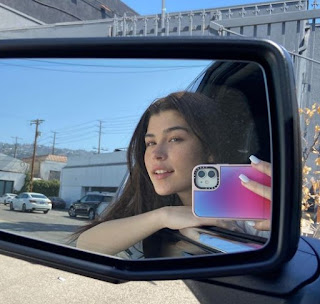 American actress, Dylan Conrique clicking selfie