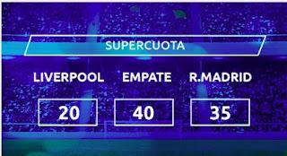 Mondobets supercuota Liverpool vs Real Madrid 14-4-2021
