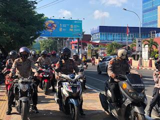 Tingkatkan Keamanan Jelang Pilkada, Polres Pelabuhan Gencar Berpatroli Bermotor