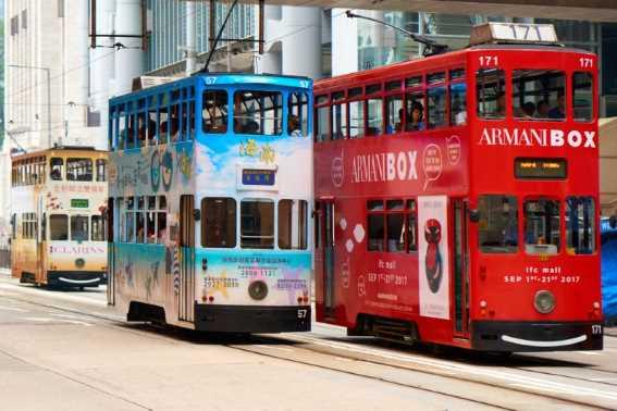 Berkeliling Kota Naik Trem di Hong Kong