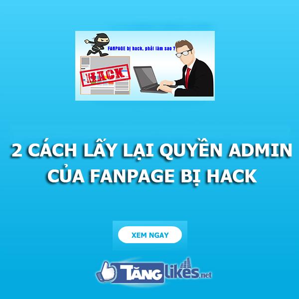 lay lai quyen admin fanpage