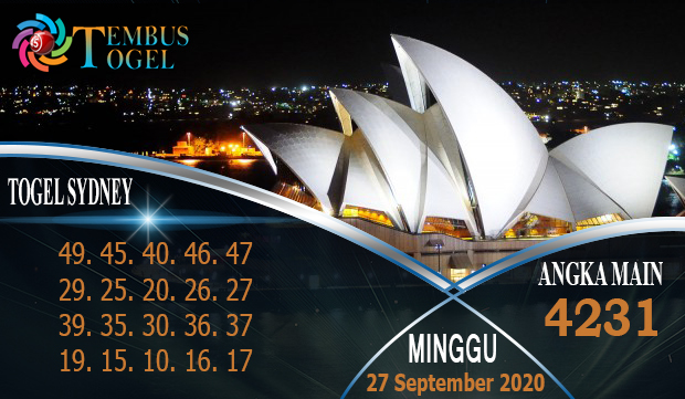Bocoran Togel Sidney Pools Hari Minggu 27 September 2020