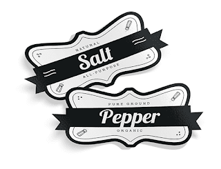 Image: Salt and Pepper - vintage food label