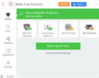 برنامج الحماية من الفيروسات  Avira Free Antivirus