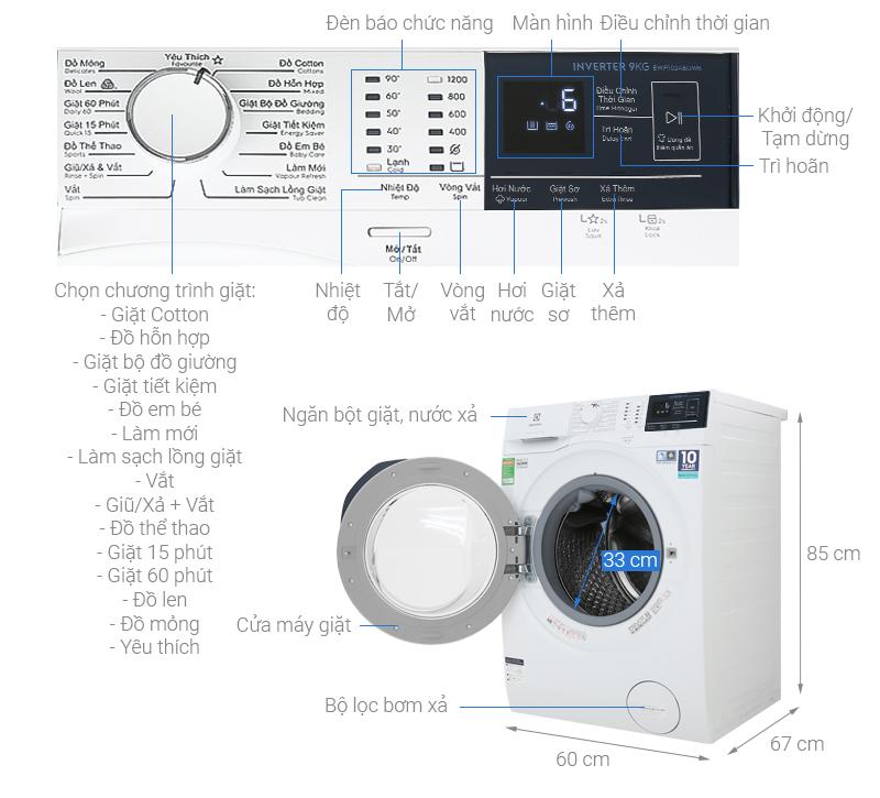Máy giặt Electrolux EWF9024BDWB