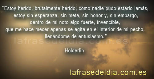 Frases famosas de Hölderlin