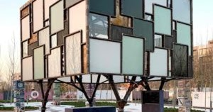 Pavilhão de vidro reciclado usa princípios da economia circular