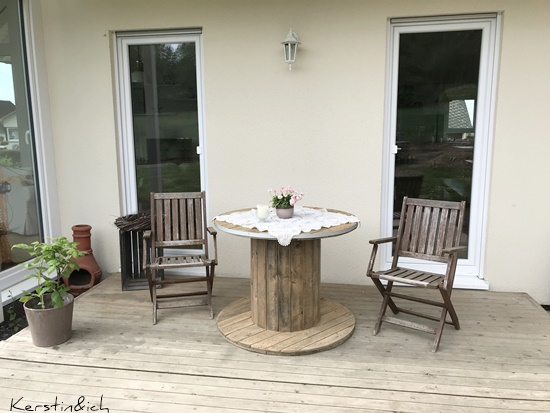 Terrasse Kabeltrommel Garten DIY