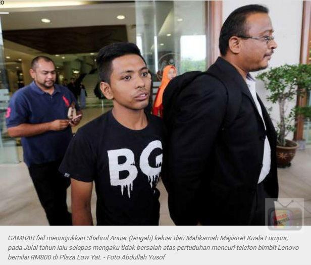 Lelaki Gegar Low Yatt Di Hukum Kerana Dadah, Bukan Kerana Curi Telefon