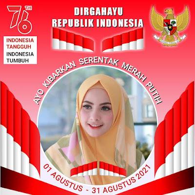"Link Cara Pasang Bingkai Twibbon Cantik ""Ayo Kibarkan Bendera Merah Putih Serentak""  1-31 Agustus 2021"
