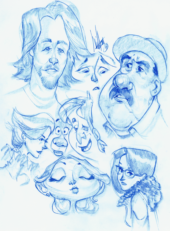 Gasp Blue Pencil Sketches That Is All Hope Everyone Has A Great Weekend I Just Pray Im Not Sick At Least One Of The Days