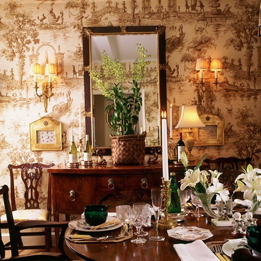 Dining Room Wall Paper: Antique Homes And Lifestyle: Presenting Wallpaper