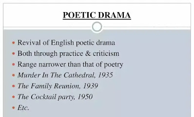In the Elizabethan age, drama meant poetic drama. Prose drama established itself with the comedy of manners. In the nineteenth century, English drama reached a period of decline, even though the Romantic poets tried their hand at tragedy.