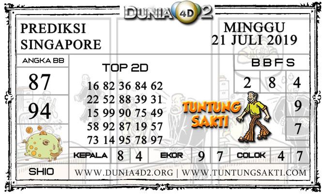 """Prediksi Togel """"SINGAPORE"""" DUNIA4D2 21 JULI 2019"""