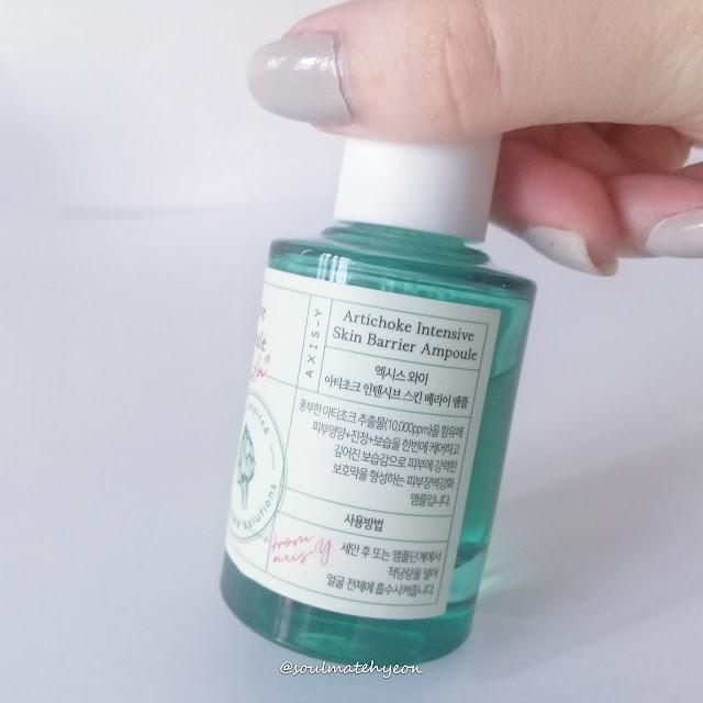 Review; AXIS-Y; Artichoke Intensive Skin Barrier Ampoule