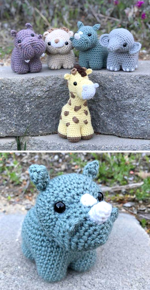 Chunkimals Safari Animal Set - Free Crochet Pattern