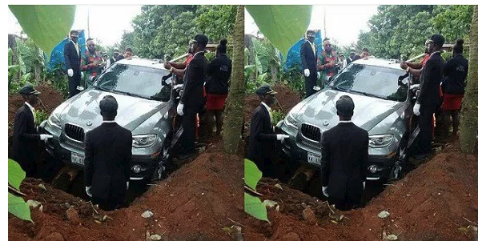 Man buries his father in a N32m BMW in Anambra (Photos)