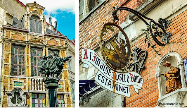 Esculturas nas ruas de Bruxelas