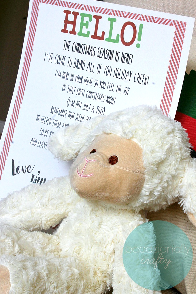 If you're tired of that elf leaving his shelf and causing trouble in your house and want a more Christ-centered approach to Christmas fun, bring home the Little Lamb from Bethlehem instead!