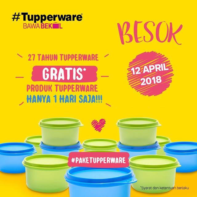 TUPPERWARE Bagi-Bagi Wadah Bekal GRATIS 12 April 2018