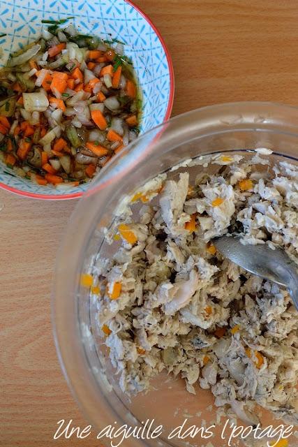 Rillettes de maquereaux aux légumes croquants , de Sylvain Revelant