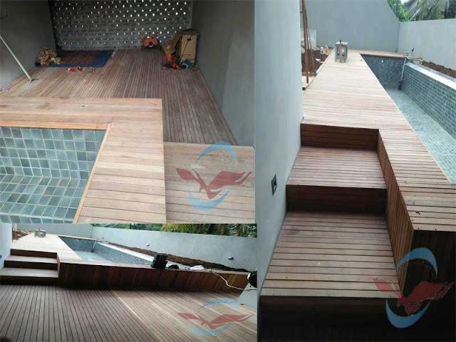 Pemasangan lantai kayu outdoor di jakarta