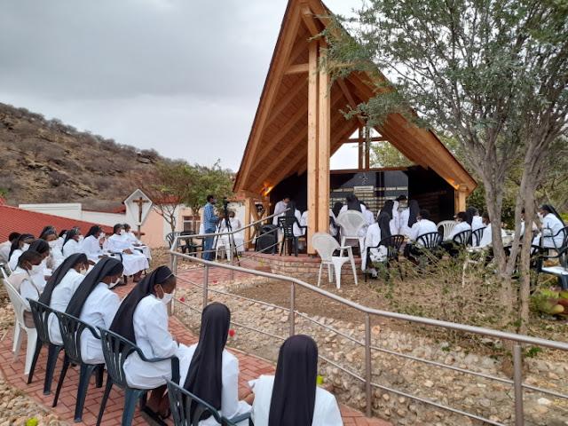 Windhoek Priory  Rosary at the Memorial Wall
