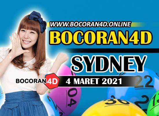 Bocoran Togel 4D Sydney 4 Maret 2021