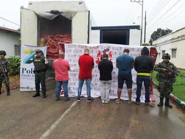 FRONTERA:  Cinco personas capturadas y 21 toneladas de carne incautadas en Tame-Colombia fronterizo con Venezuela.