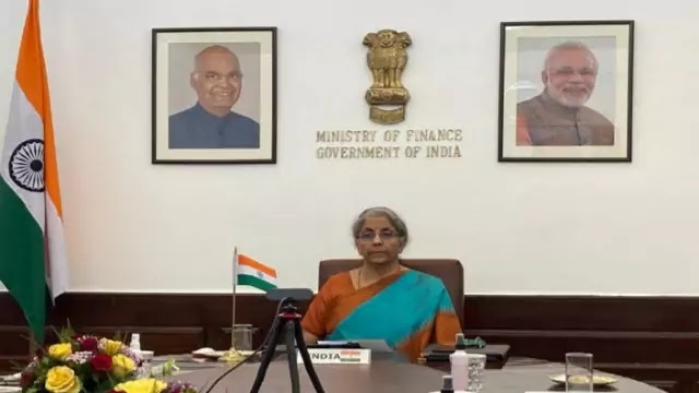 FM Nirmala Sitharaman attends Plenary Meeting of IMFC of IMF through video-conference from New Delhi