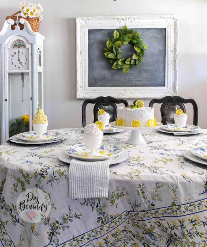 summer citrus table decor
