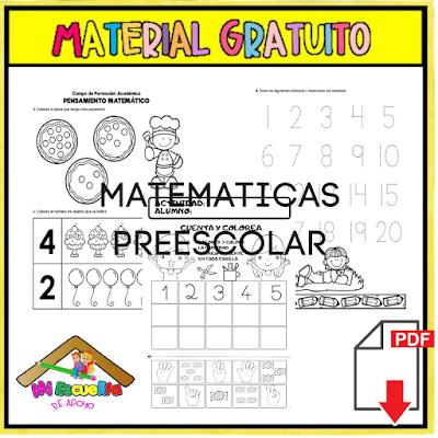 matemáticas para preescolar pdf