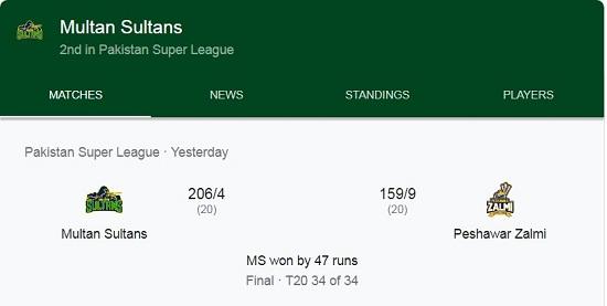 Multan Sultan Won PSL Title First Time