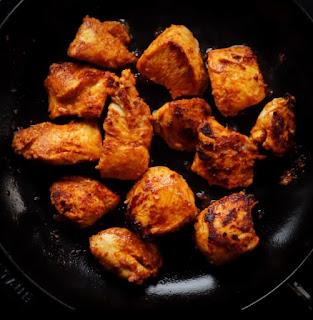 Pan Seared chicken tikka